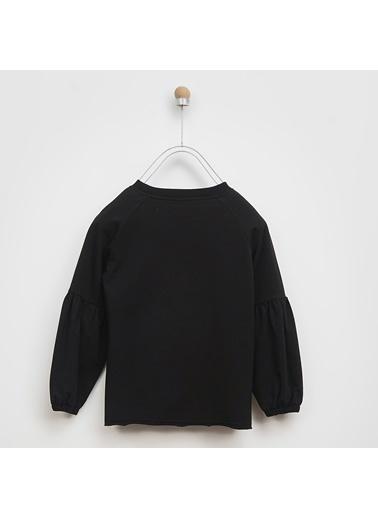 Panço Kız Çocuk Sweatshirt 2021GK08006 Siyah